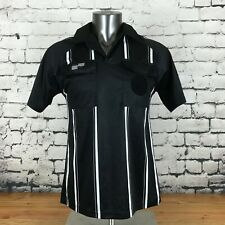 Offical Sports Soccer Referee Jersey Black Short Sleeve Size Small