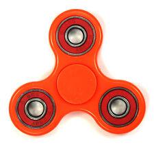 Neon Orange/Red - Tri FIDGET Spinner Ceramic Ball Hand SPINNER Desk Toy