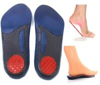 3/4 Insoles Plantar Fasciitis Heel Fallen Arches Flat Feet Orthotic Arch Support