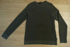 Men's Large Jack & Jones crew neck sweater - olive green, body/slim fit