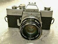 Minolta SRT 101 SLR 35mm Camera with 55MM F1;7 MC PF Rokkor  Lens