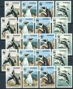 [E14467] Namibia 1997 WWF - PENGUINS 5X Good set of stamps very fine MNH