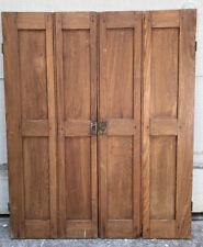 "30 3/4"" T x 25"" W Salvaged Antique Wood Interior Plantation Window Shutters Vtg"
