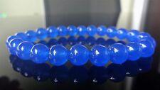 "Blue Sapphire Gemstone Bead Bracelet for Men (On Stretch) 8mm - 8"" Inch AAA"