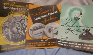 Three 1930's Stromberg-Carlson Booklets/Engineering of the Model 1212 Telephone