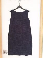 Eileen Fisher Navy Cotone Organico e Tencel Vestito, nuovo con etichette, prezzo consigliato £ 235