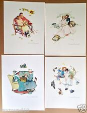Set of 4 1953 NORMAN ROCKWELL Large Lithographs FOUR AGES OF LOVE ap sn B&B COA