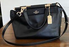 NEW Coach GRACE black Leather Satchel handbag shoulder crossbody Selena Bag