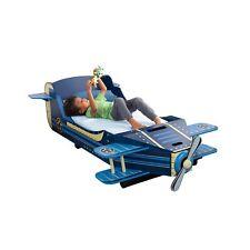 KidKraft Airplane Toddler Bed Blue