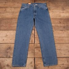 "Mens Vintage Levis Red Tab 501 Blue Denim Jeans With Tags 36"" x 32"" R9366"