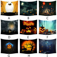 Halloween Tapestry Pumpkins Tree Print Wall Hanging Tapestry Art Home Decoration