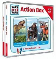 WAS IST WAS-ACTIONBOX (DINOSAURIER/PIRATEN SCHIFFE/FEUERWEHR POLIZEI) 3 CD NEU