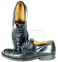 Bruno Magli Branson Oxford Mens Size 10 M Black Leather Cap Toe Dress Shoe Italy
