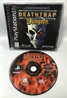 Deathtrap Dungeon (Sony PlayStation 1) Complete w/Registration Card  Mint - PS1