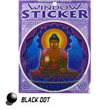 Buddha Light Aufkleber Fensterbild Meditation Lotus Sticker Yoga  Zweiseitig