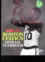 Boston Celtics Official Yearbook 1976-77 Jo Jo White John Havlicek Dave Cowens