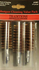 Traditions 20 Gauge Shotgun Bronze Bristle Brush Value Pack of 3  # A1681  New!