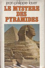 Livre le mystère des pyramides J.P. Lauer book