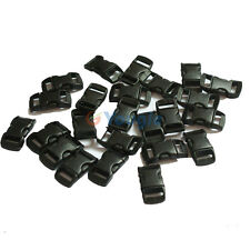 "100 pcs 3/8"" Contoured Curved Side Release Plastic Buckle for Paracord Bracelet"