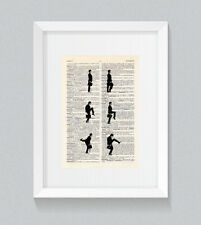 Ministry Of Silly Walks ver1 Vintage Dictionary Book Print Wall Art