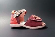 Brand New $70 KICKERS Sandals Toddler Baby Girls LEATHER Size 6 USA/22 EURO