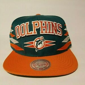 NFL Miami Dolphins Snapback Hat Mitchell & Ness Vintage New w/ Stickers RARE