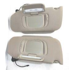 2003-2006 Lincoln LS sun visor pair OEM tan cloth sunvisors with homelink option