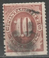 USA Scott #  J 19 Postage Due 10 Cent Red Brown used (J19-5)