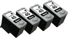 4PK FOR CANON PG40 PG-40 PG 40 0615B002 Black PIXMA MP140 MP150 MP160 MP170
