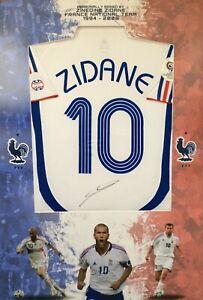 ZINEDINE ZIDANE hand signed Real Madrid/France shirt