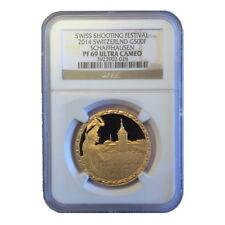 Switzerland 2014 Schaffhausen Shooting Taler 500 Swiss Francs Gold NGC PF69 PR69