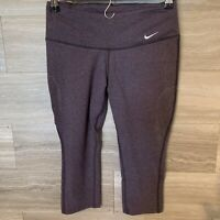 Women's Nike Purple Running Capris Dri-Fit Size XS Fitted