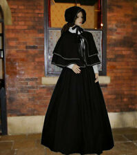 Ladies Victorian Dickensian 3pc   gentry costume - fancy dress. B&W