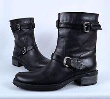 NEW! Aquatalia by Marvin K. 'Sweet' Moto Boot- Black Calf- Size 10 M  $495  (B9)