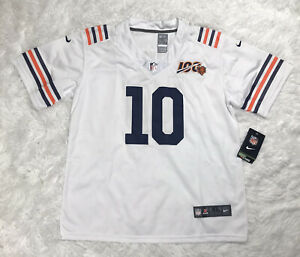 Nike Chicago Bears Trubisky Youth Jersey Boys Size XL White NWT NFL 100th