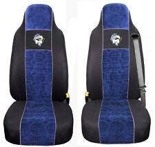 MAN TGA TGX TGS TGL Passform Schonbezüge Auto Sitzbezüge 2 Schwarz Blau
