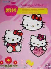 Hello Kitty Aufbügel Flicken und zum Nähen mit 3 Motive *