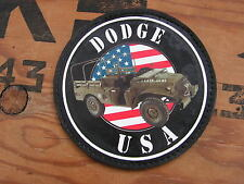 "SNAKE PATCH "" DODGE USA "" WC normandie COLLECTION US WW2 commémoration"