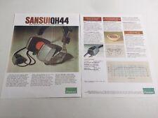 Sansui QH44 High Velocity Type 4/2 Channel Headphones Information Brochure