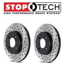 For Mazda 6 Lincoln MKZ Pair Set of Front StopTech Drilled Slotted Brake Rotors