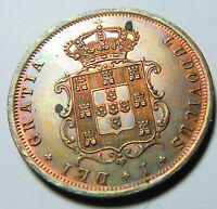 PORTUGAL 1867 V REIS UNCIRCULATED     A18-843