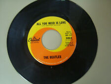 BEATLES~ BABY YOU'RE A RICH MAN~ VG~ALL YOU NEED IS LOVE~ CAPITOL 7""