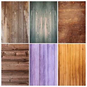 Vintage Vinyl Wood Plank Board Background Studio Photo Backdrop Show Props
