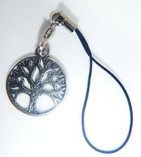 Antique Silver TREE OF LIFE Phone Charm Gift Bag iphone Nokia Hauwei Samsung