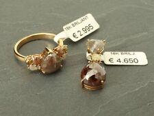 Diamanten-Schmuck Set Ring und Anhänger mit Diamanten, 18 Karat Gold!