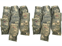 Lot of 20 USGI ACU Double Mag Pouch Army MOLLE II Digital Camo 2 Magazine DAMAGE
