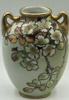 """Early Unmarked Nippon Oval Moriage Hand Painted Antique  Vase 5 3/4""""Unmarked"""