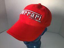 Ferrari GearBox Strapback Hat Baseball Cap Embroidered Orange Adjustable Racing