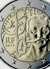 France 2 Euro Coin 2014 Commemorative Olympics Coubertin New BUNC from Roll