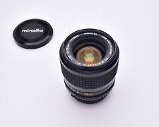 Minolta MC W.ROKKOR-X SI f/2.5 28mm Wide Angle Lens with Caps (#6417)